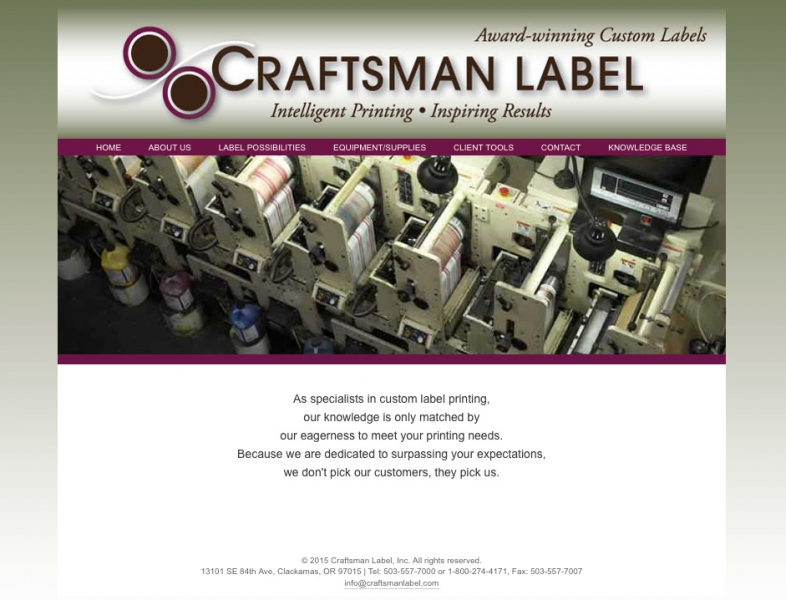 Craftsman Label